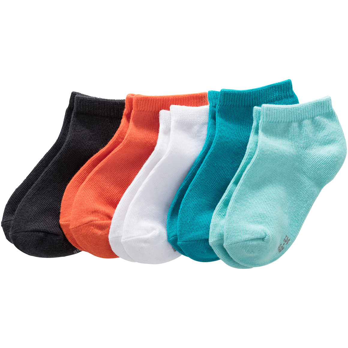 5 Paar Baby Sneaker Socken in Unifarben