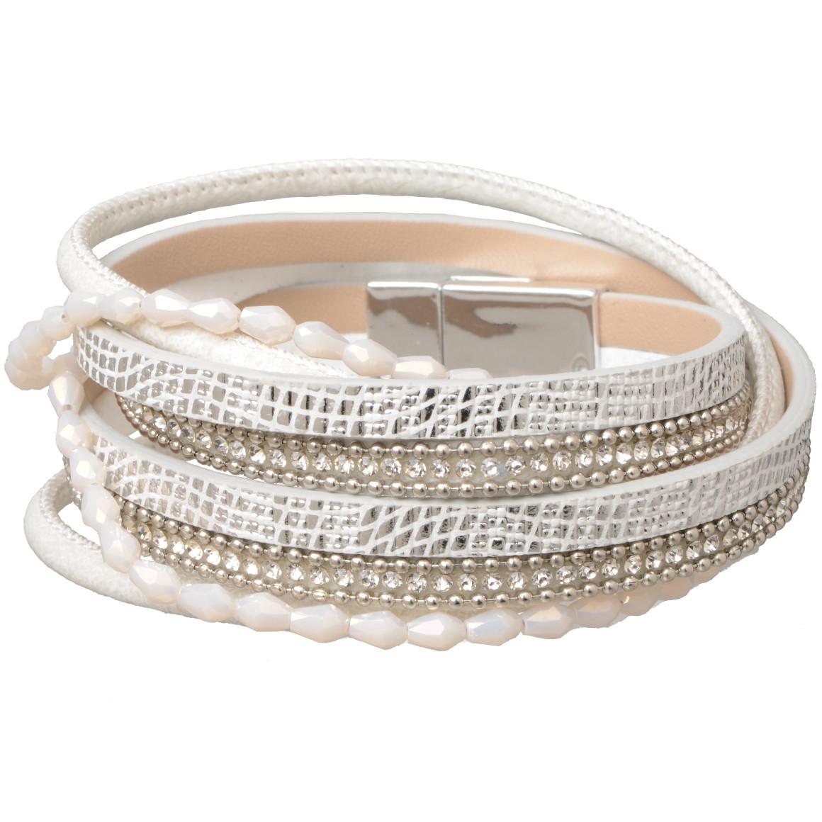 Damen Wickelarmband mit Magnetverschluss - broschei