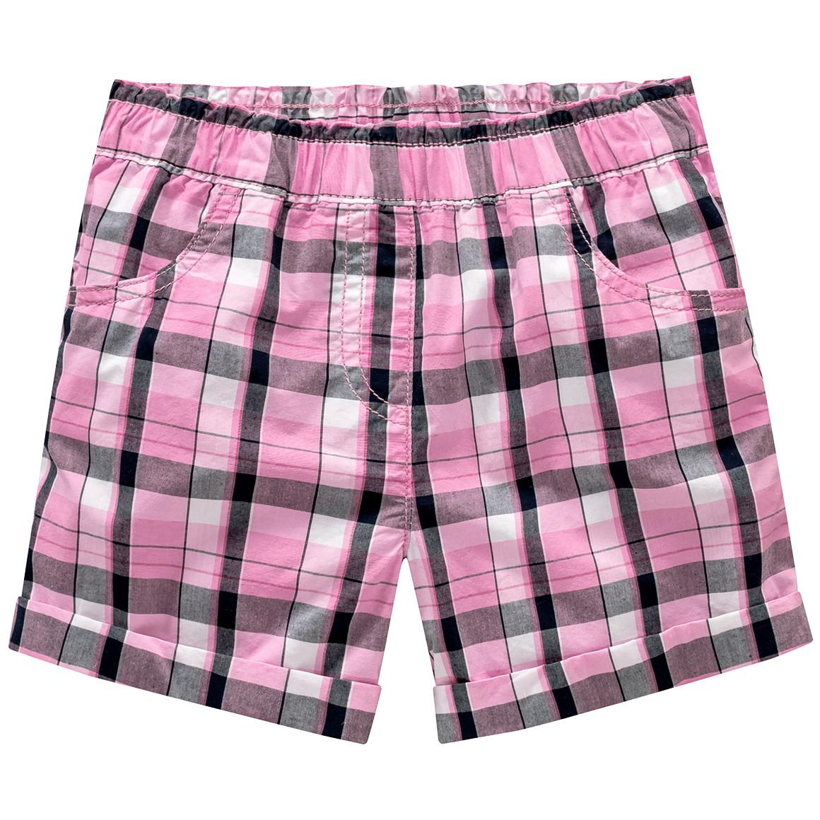 Mädchen Shorts im Karo Design