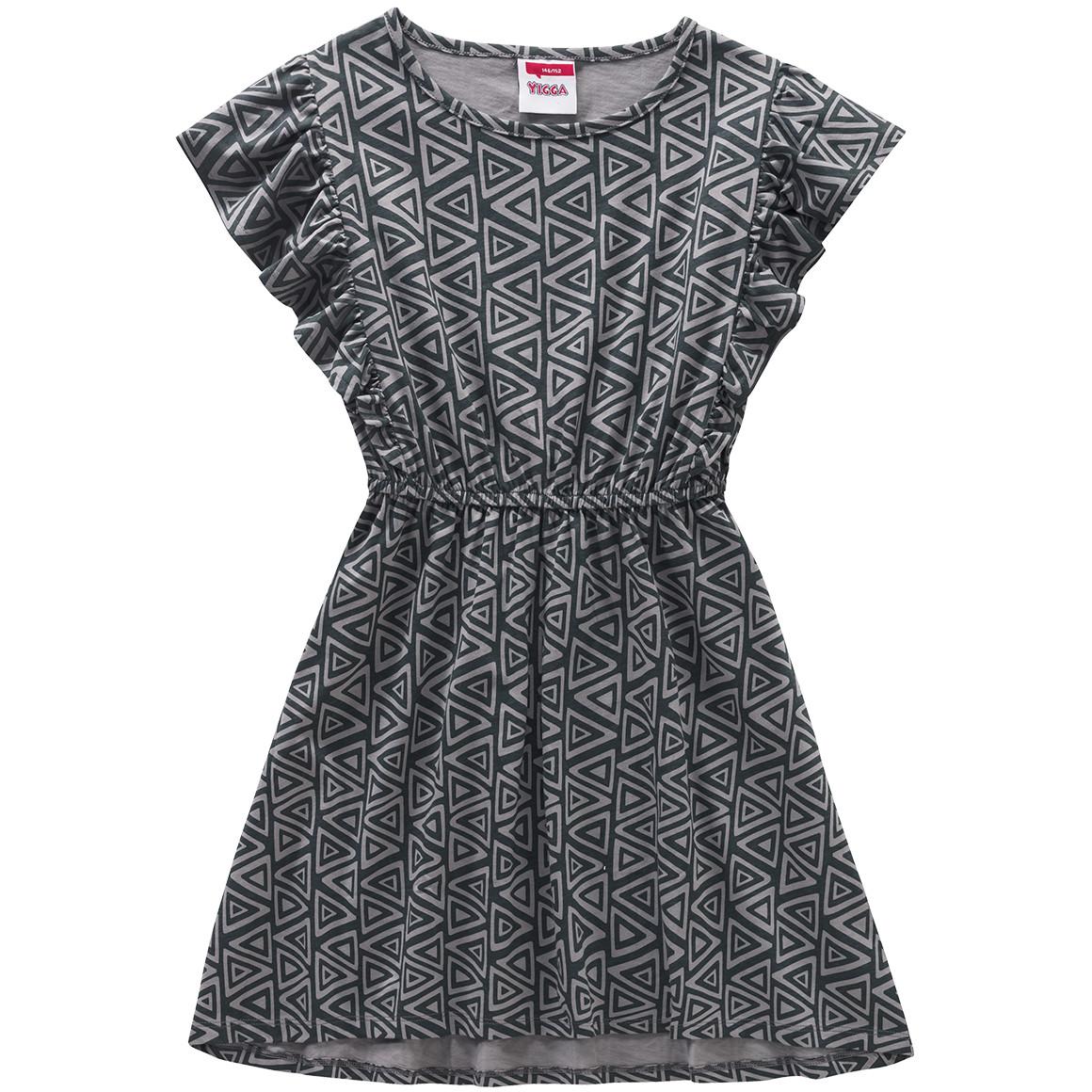 Mädchen Kleid mit grafischem Muster