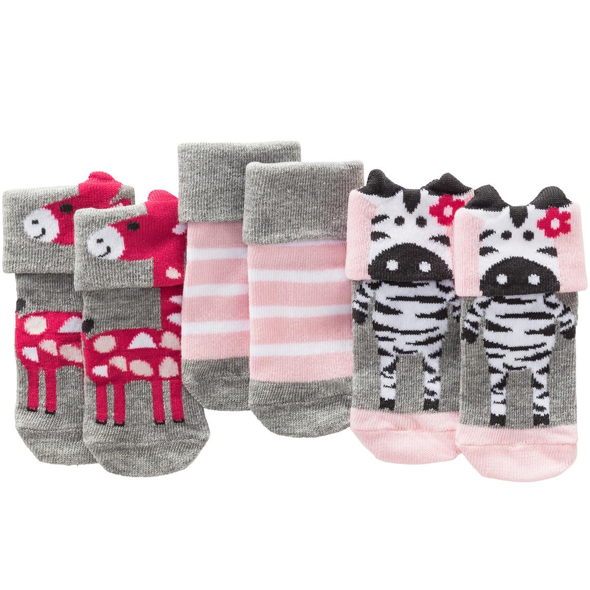 3 Paar Baby Socken mit Umschlag