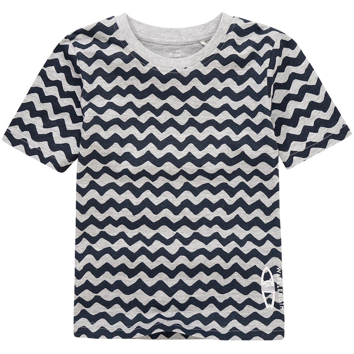 Jungen T-Shirt mit Zacken Muster