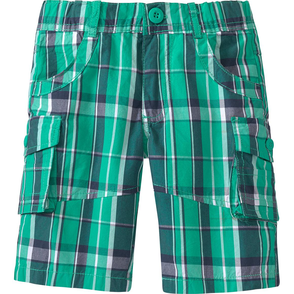 Jungen Shorts im Karo Look