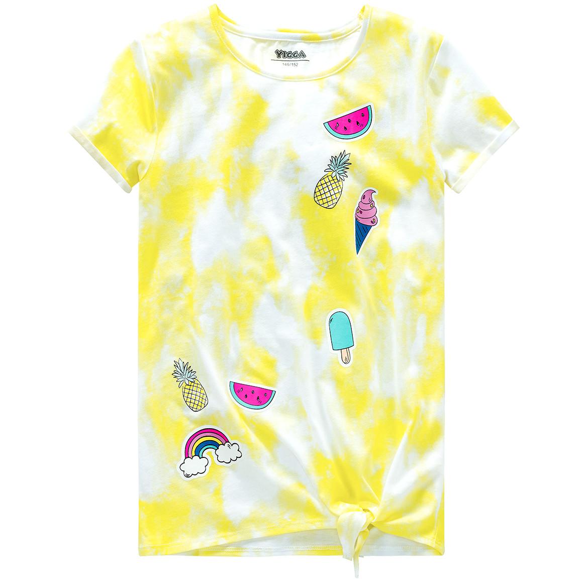 Mädchen T-Shirt im Batik Look