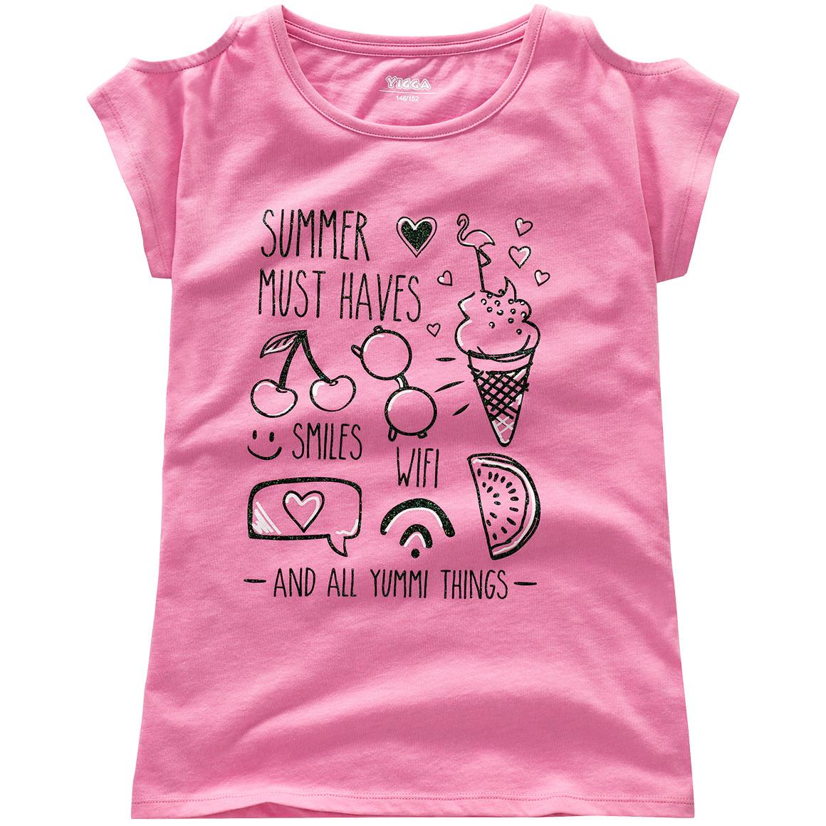 Mädchen T-Shirt mit Cut out