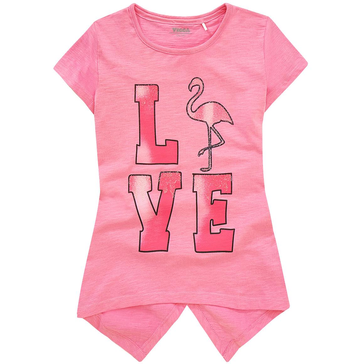 Mädchen T-Shirt mit Flamingo Motiv