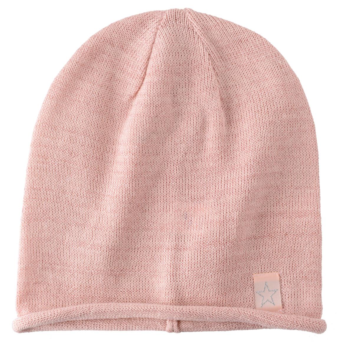 Mädchen Mütze mit rosa glitzernden Fäden