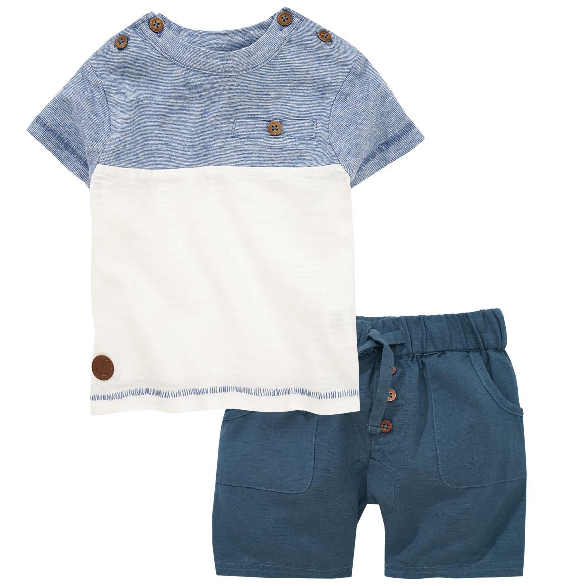 Newborn T-Shirt und Shorts aus Flammgarn