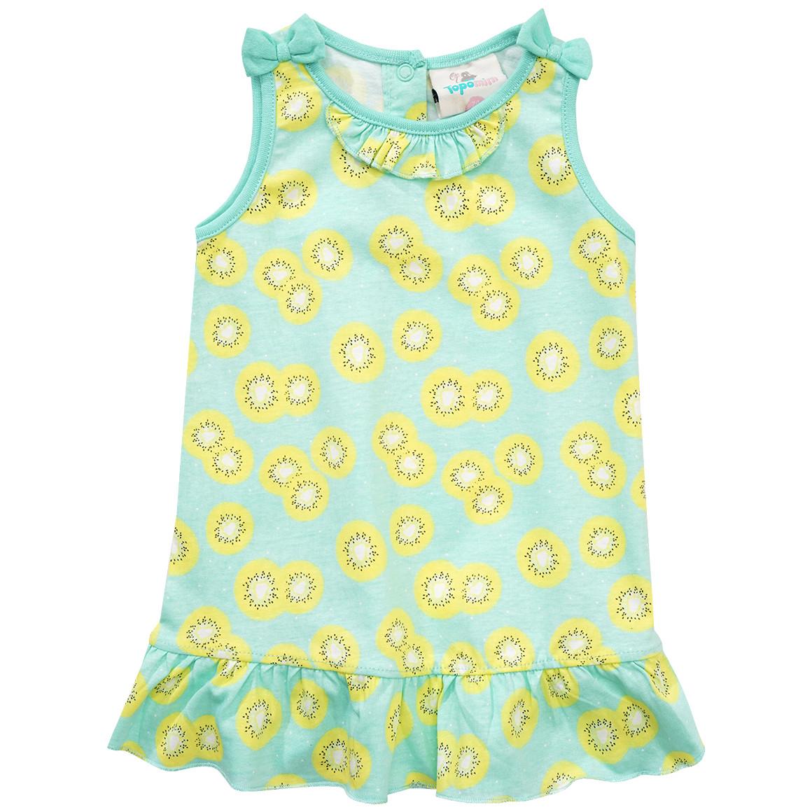 Baby Kleid mit Allover Kiwi Print