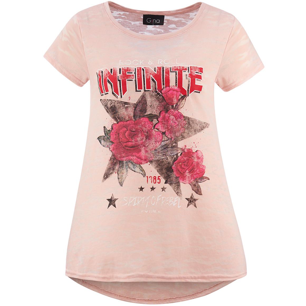 Damen T-Shirt mit Ausbrennmuster jetztbilligerkaufen
