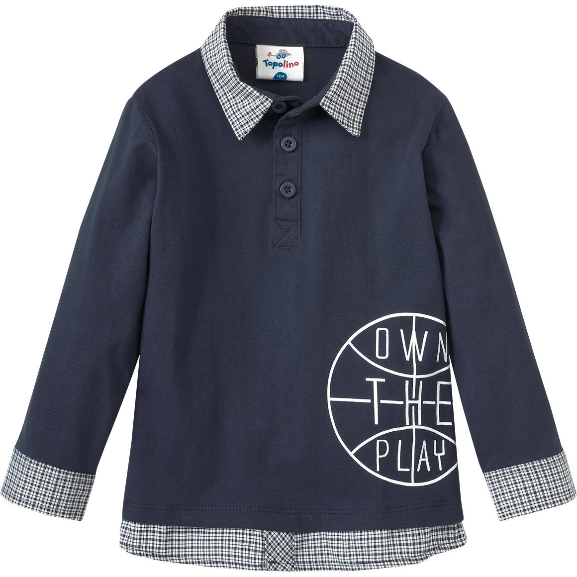 Jungen Shirt im Layer Look