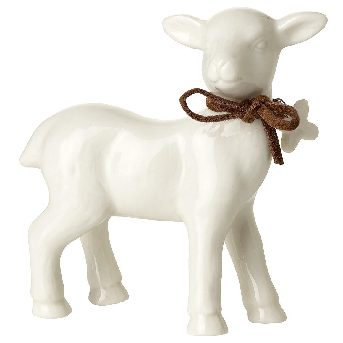 Deko Schaf aus Porzellan