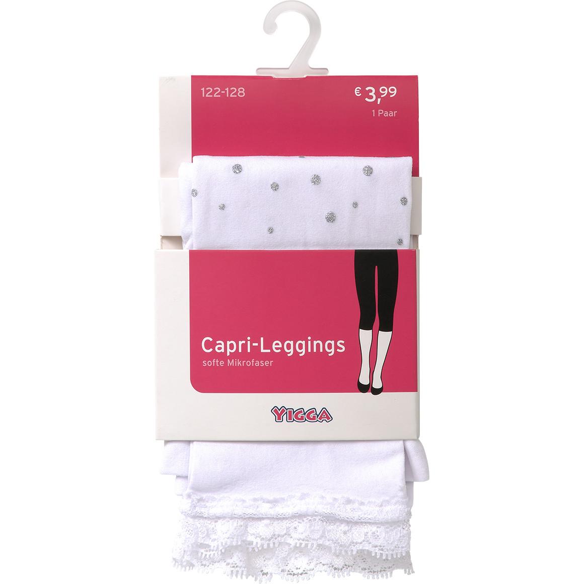 Mädchen Capri Leggings mit Glitzerpunkten