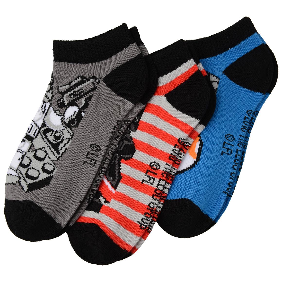 3 Paar LEGO STAR WARS Jungen Sneaker Socken