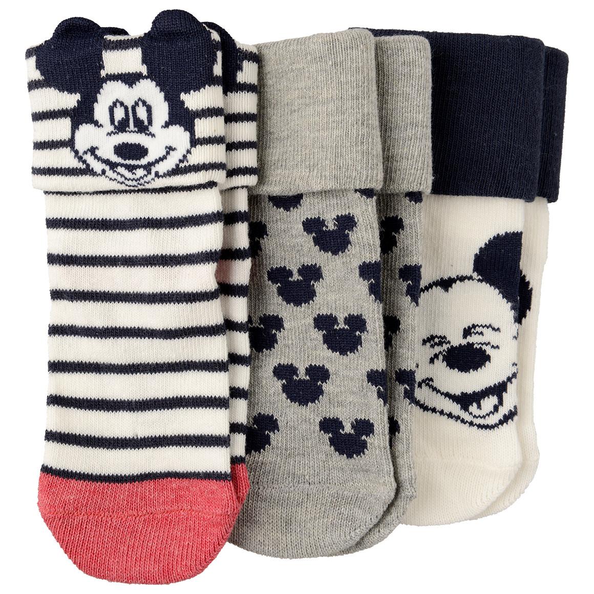 3 Paar Mickey Maus Baby Socken
