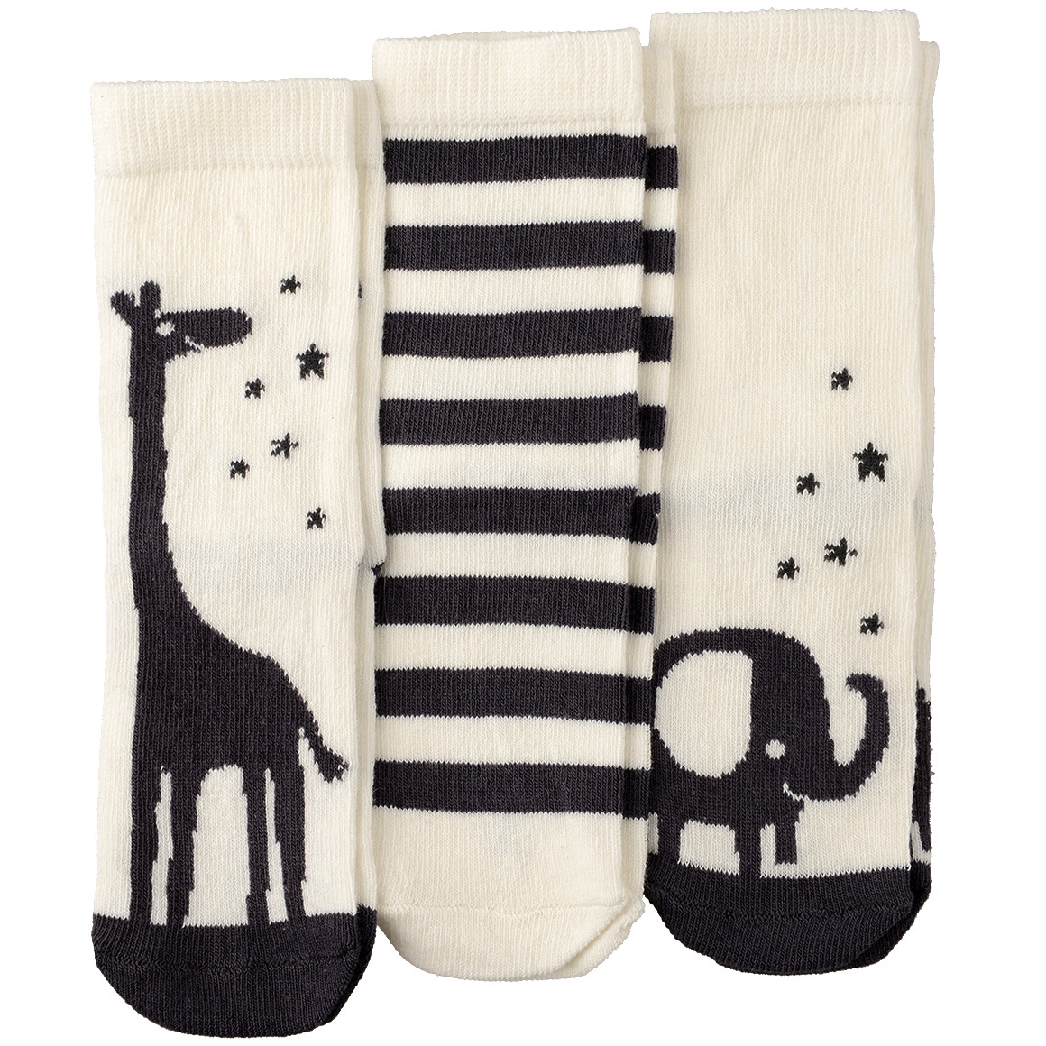 3 Paar Baby Socken mit Bio Baumwolle