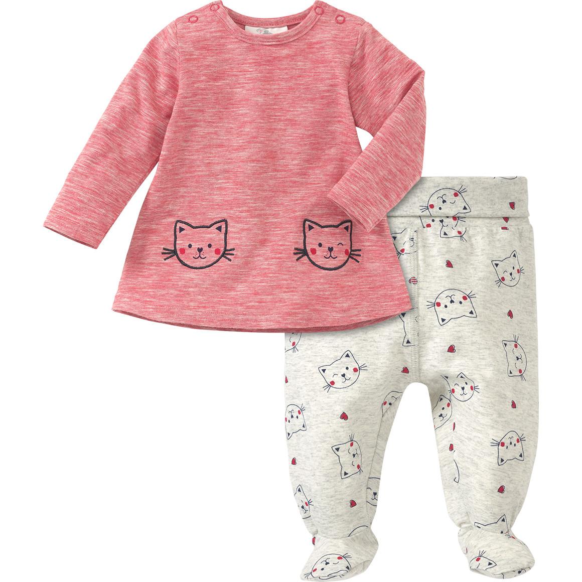 Newborn Kleid und Hose mit Katzen Print