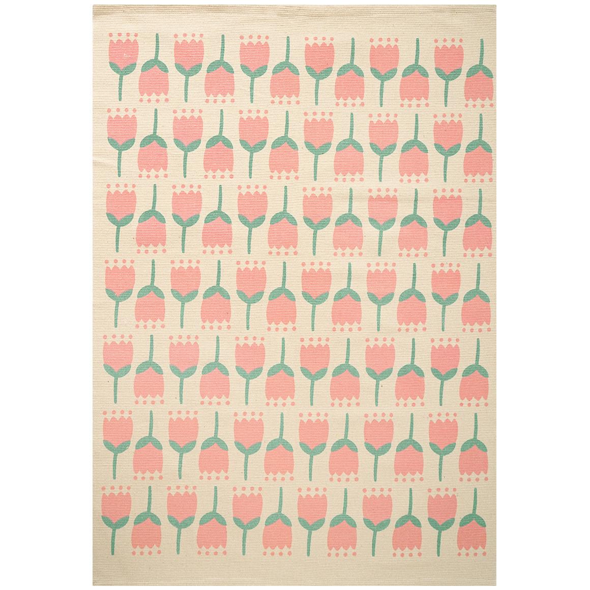Teppich mit Tulpen-Motiven