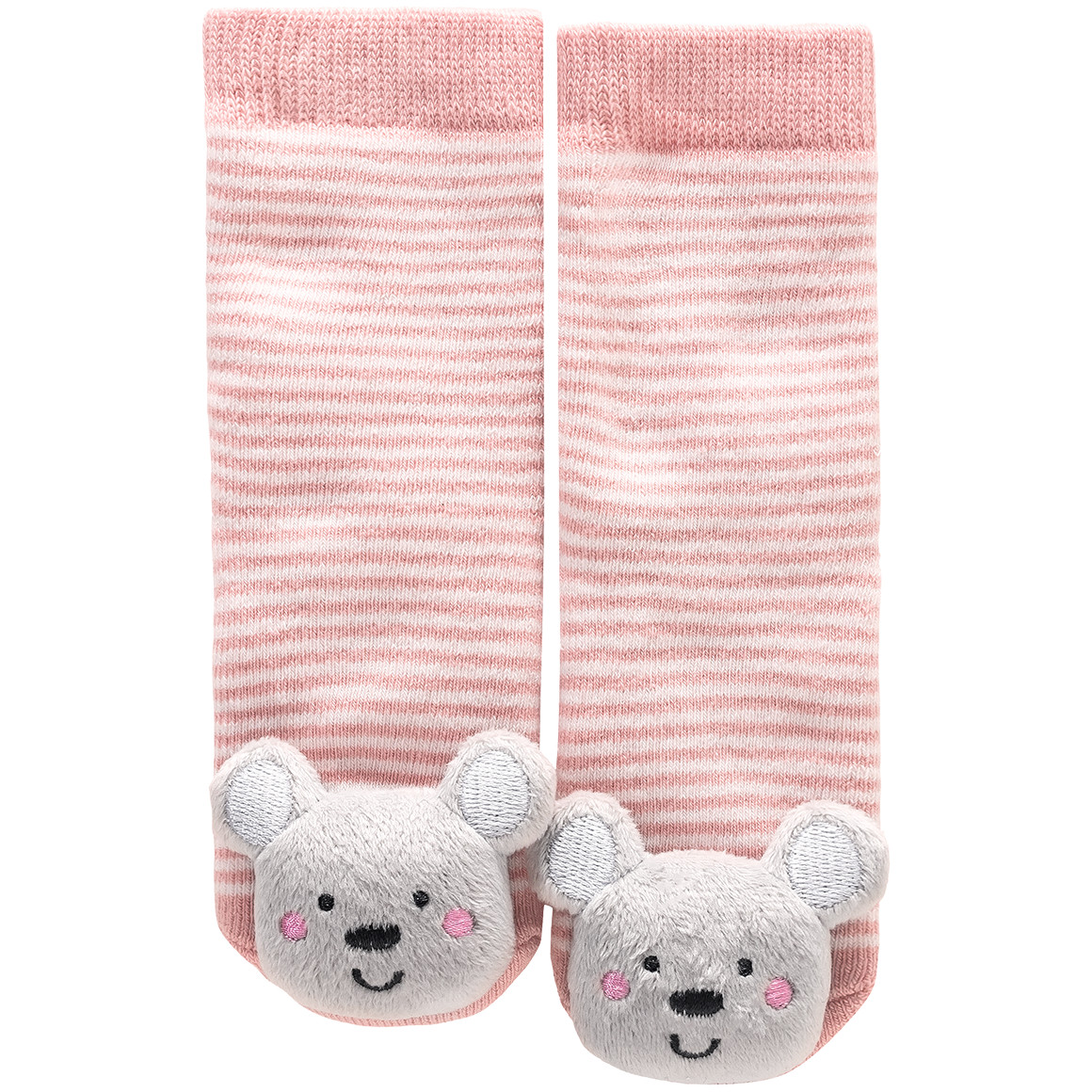 Baby Socken mit Teddy Applikation
