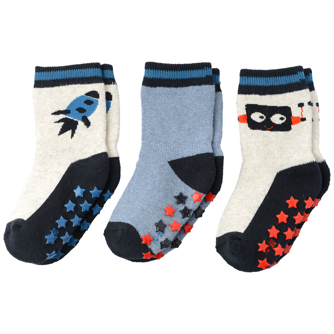 3 Paar Baby Stopper Socken