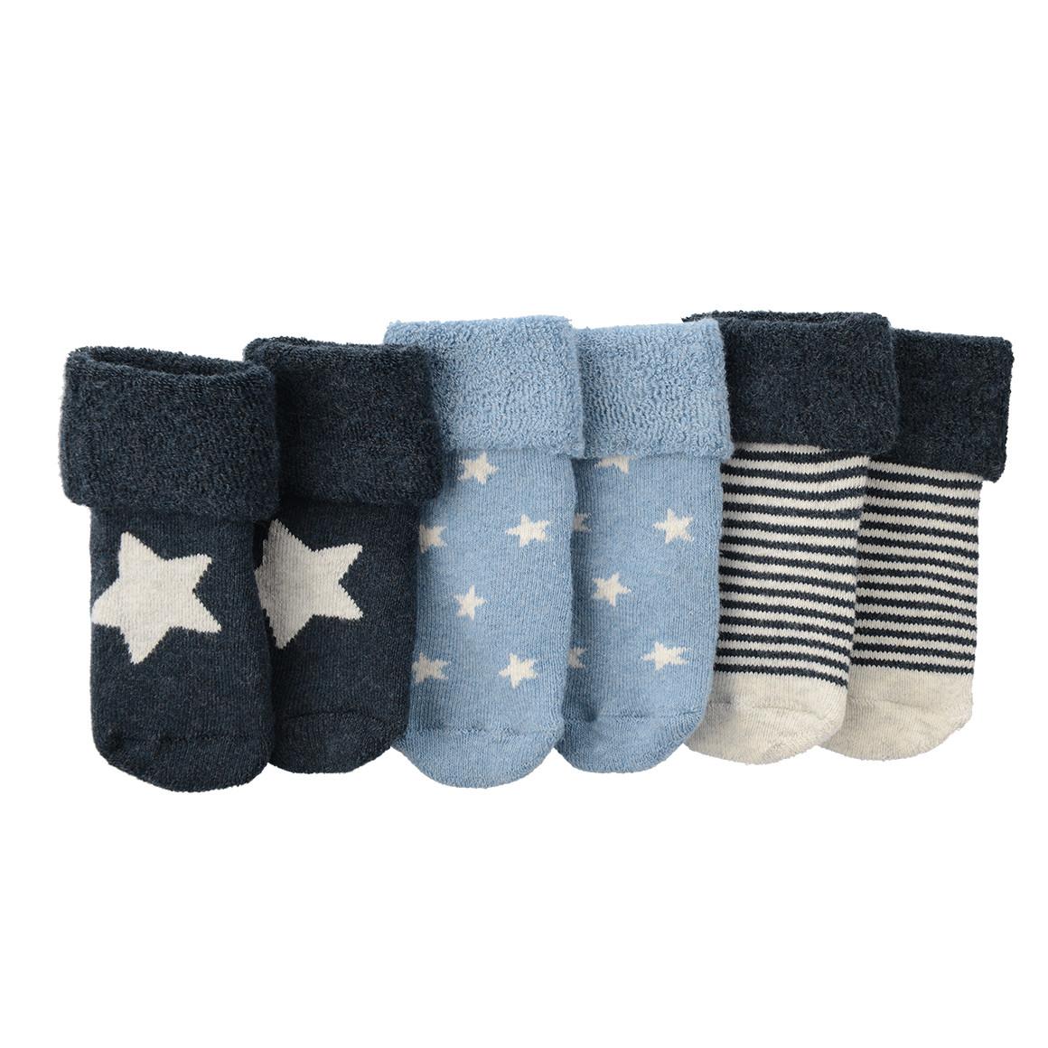 3 Paar Newborn Frottee Socken
