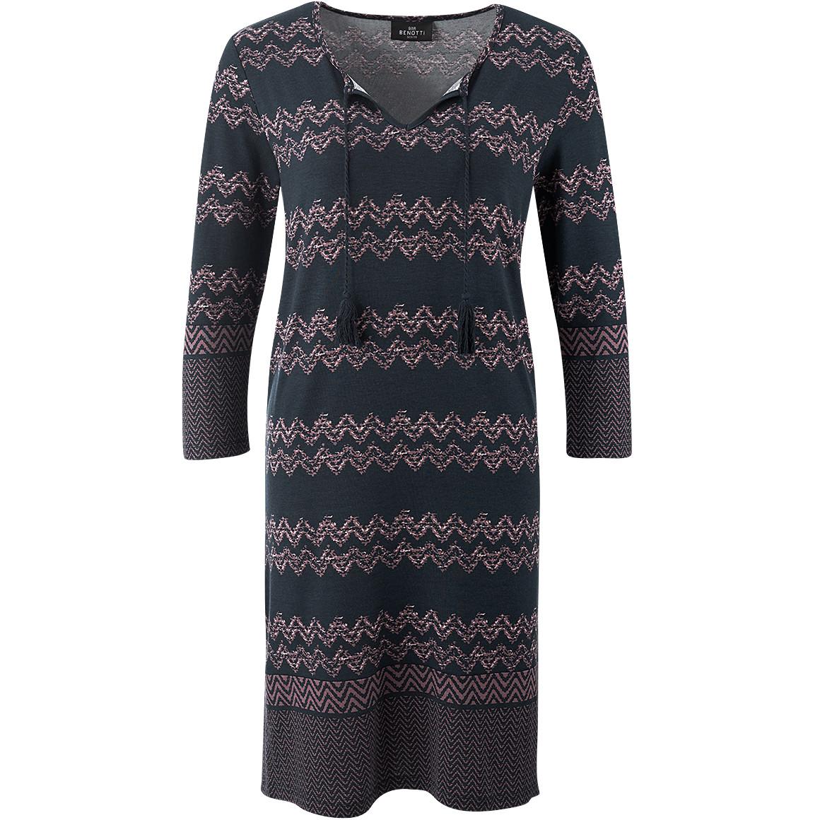 Damen Kleid mit Zick-Zack-Muster jetztbilligerkaufen