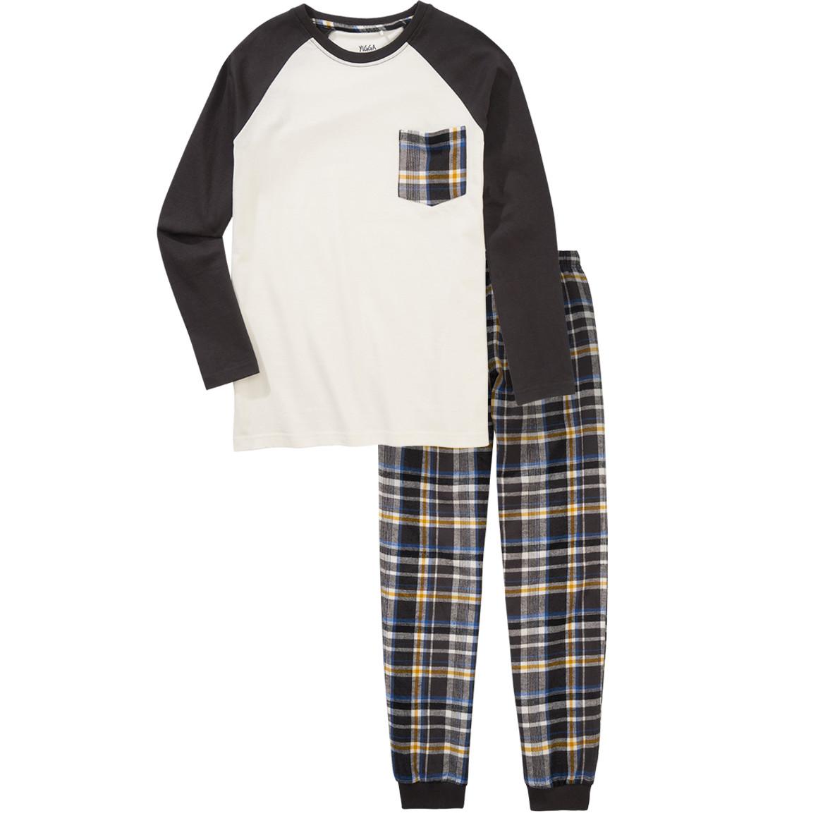 Jungen Schlafanzug im Karo Design