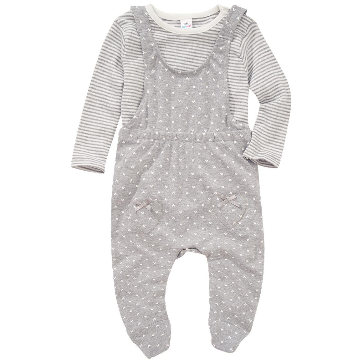 Baby Strampler und Langarmshirt