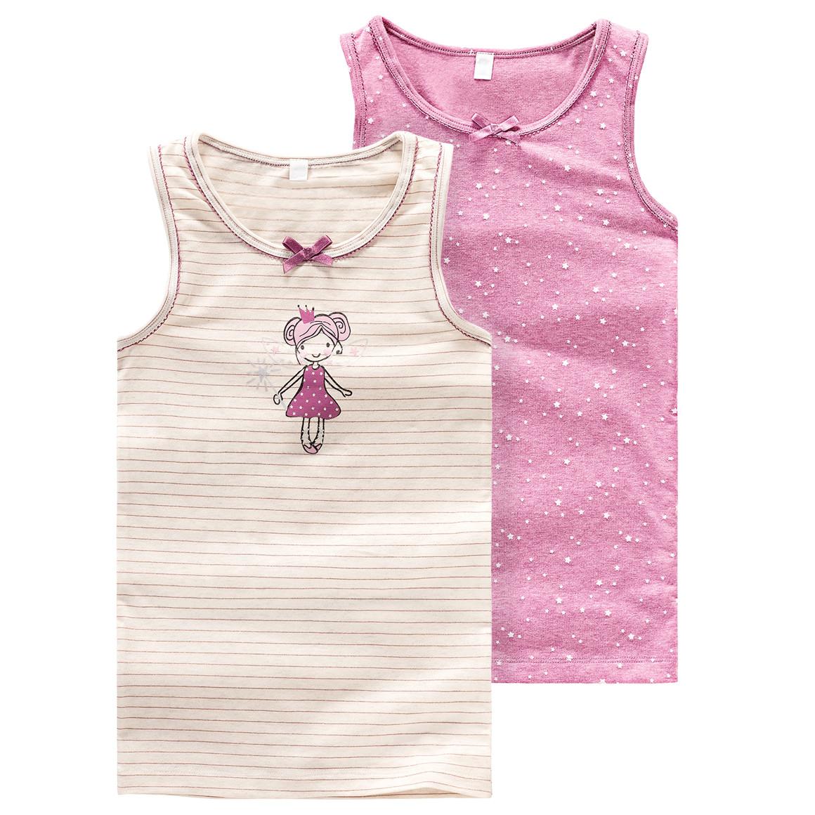 2 Mädchen Unterhemden