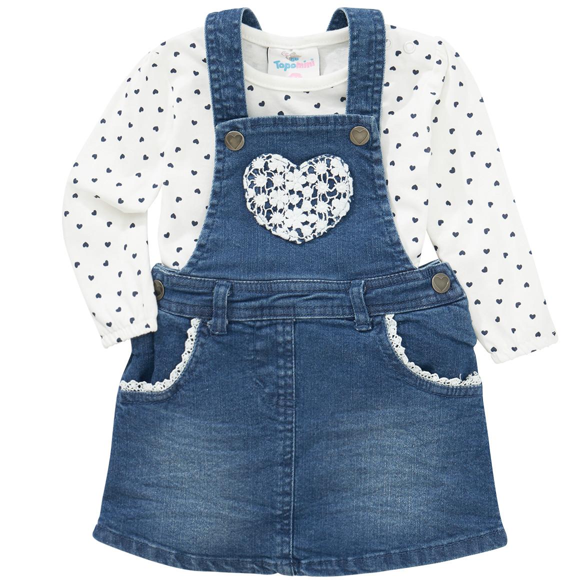 Baby Jeanskleid und Langarmshirt im Set