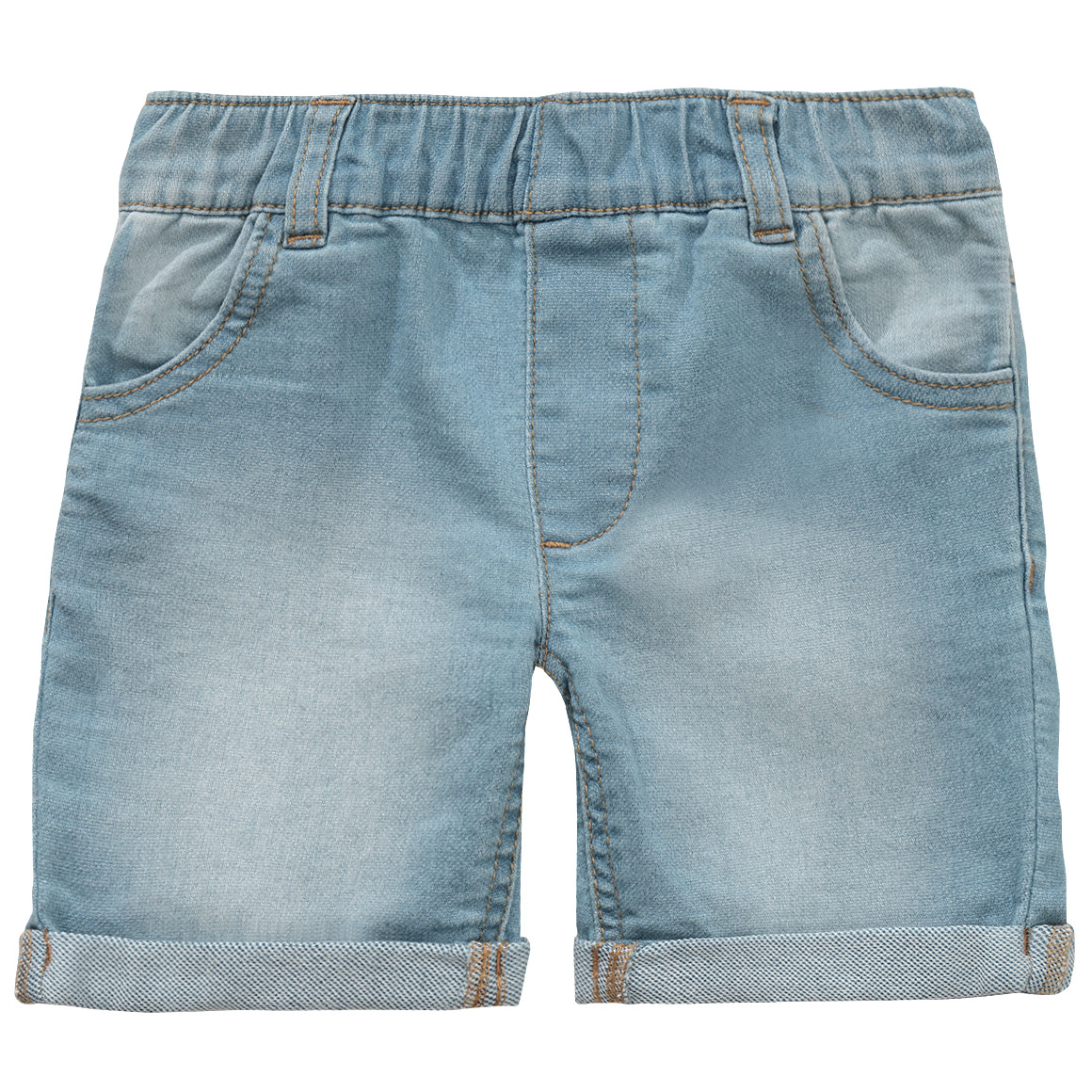 Jungen Pull on Jeansshorts in heller Waschung