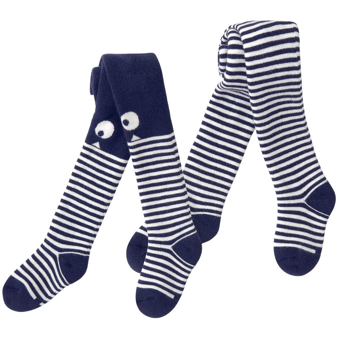 2 Baby Strumpfhosen mit lustigem Motiv