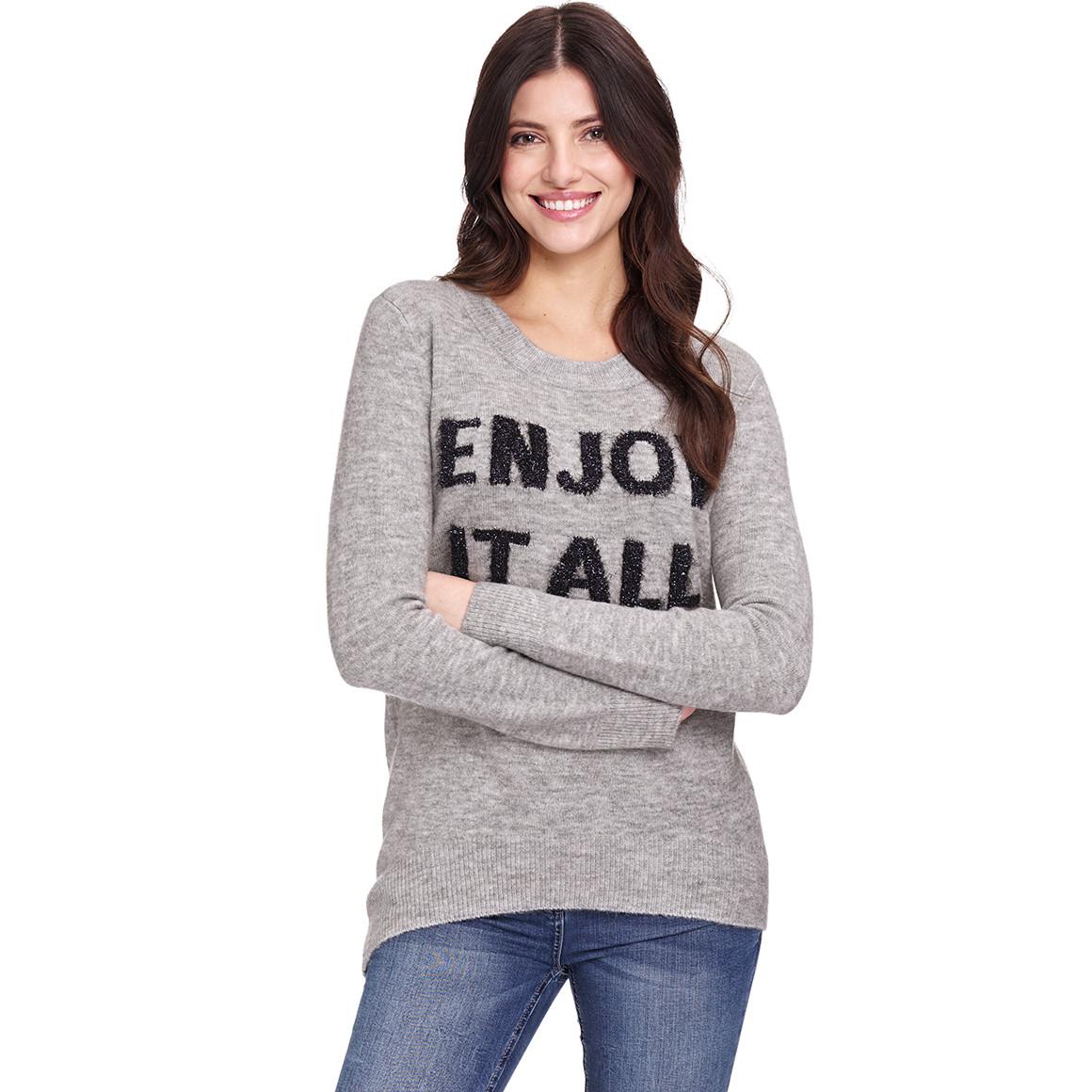 Damen Pullover mit Schriftzug von Ernstings Family ansehen!