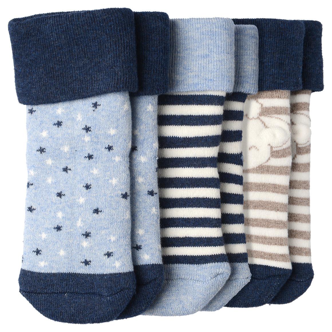 3 Paar Baby Socken in verschiedenen Designs