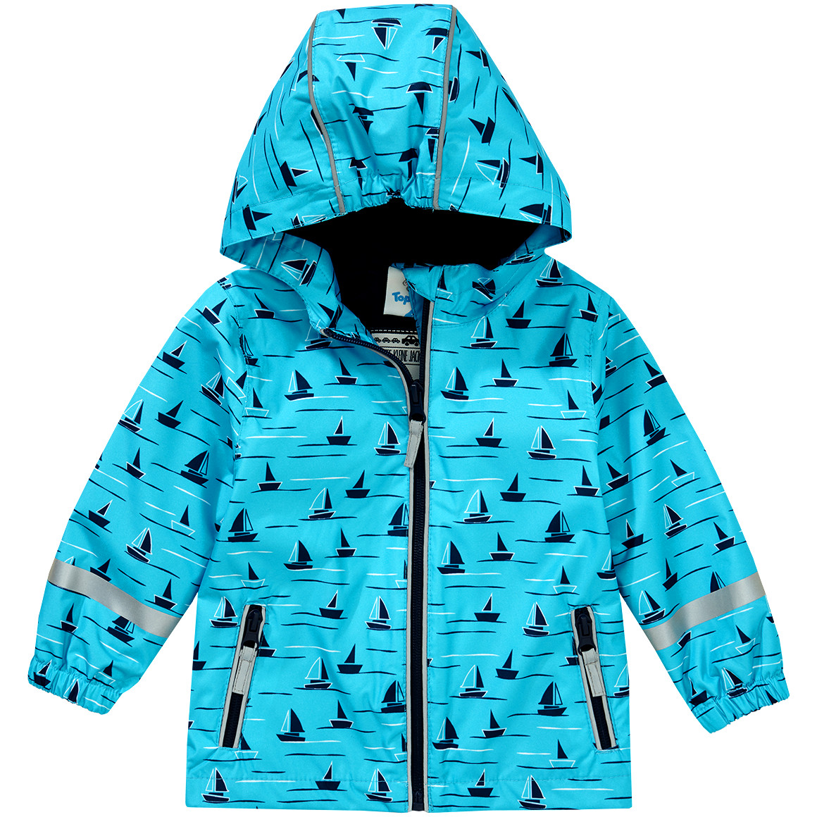 Baby Regenjacke mit Schiffchen allover