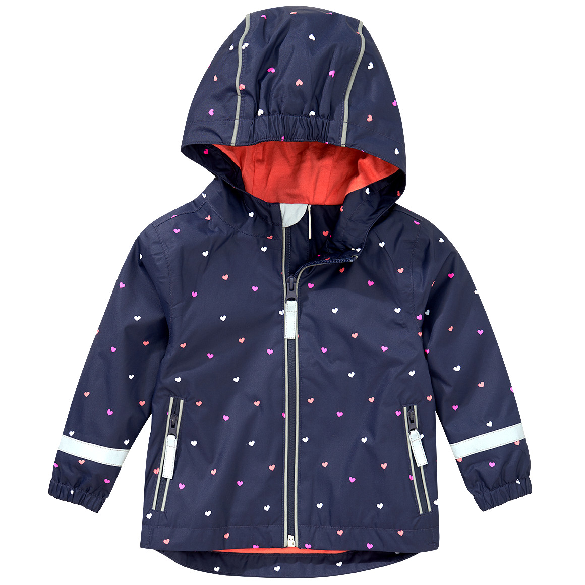 Baby Regenjacke mit Herz Allover