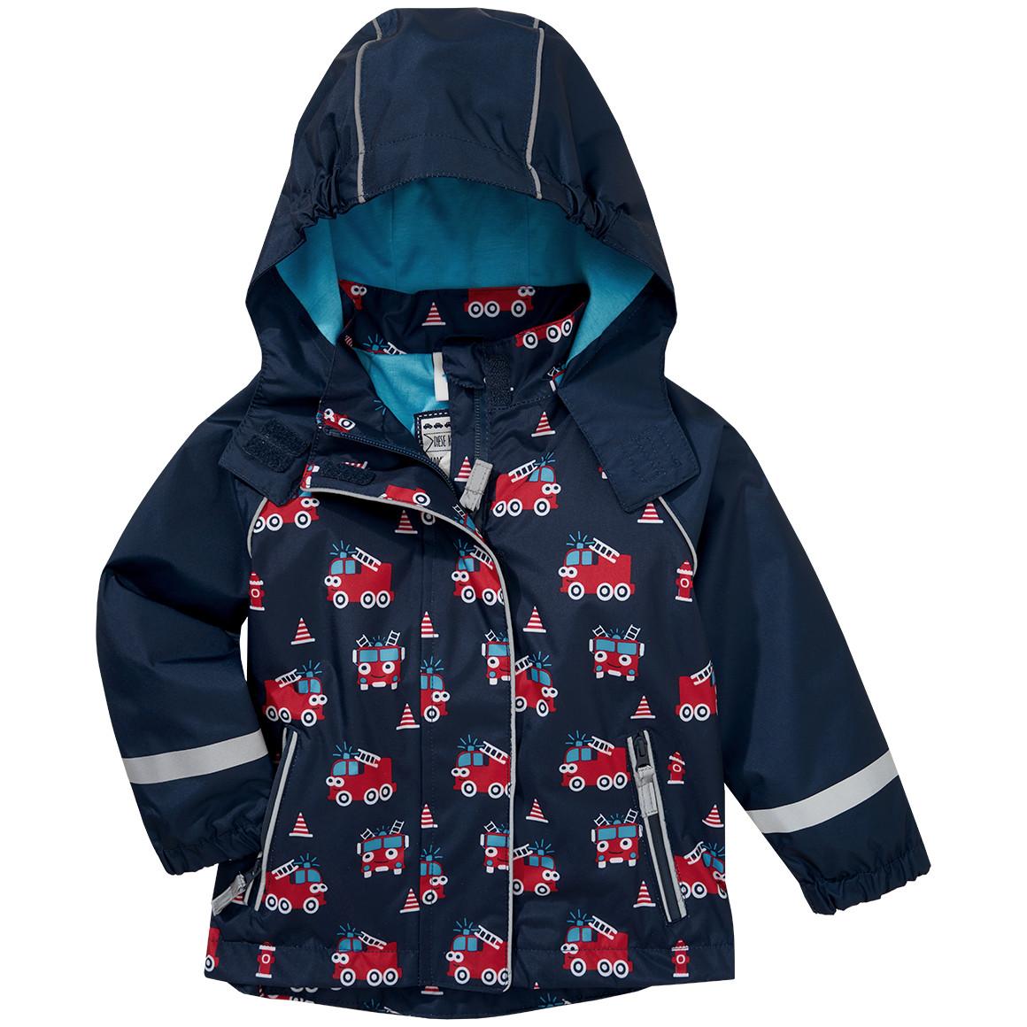 Baby Regenjacke mit Feuerwehr Allover