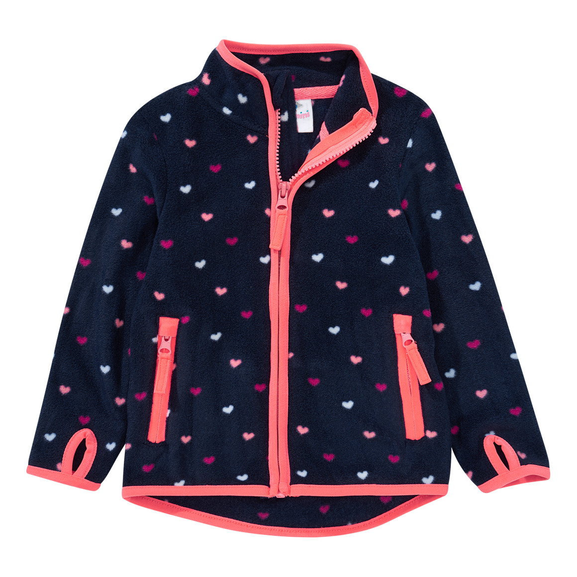 Baby Fleecejacke mit Herz Allover