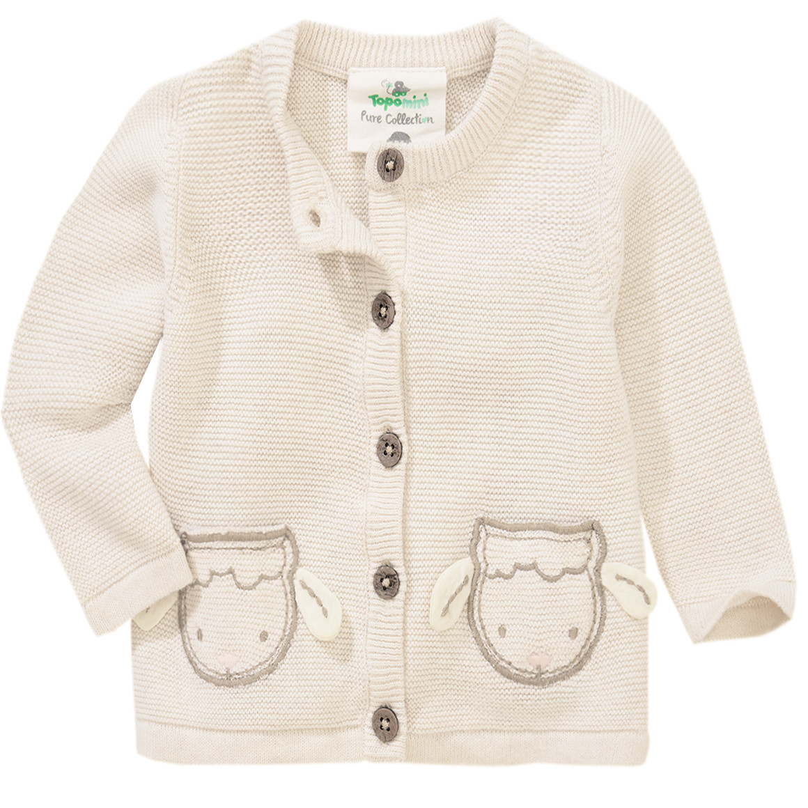 Newborn Strickjacke mit Schaf Applikation