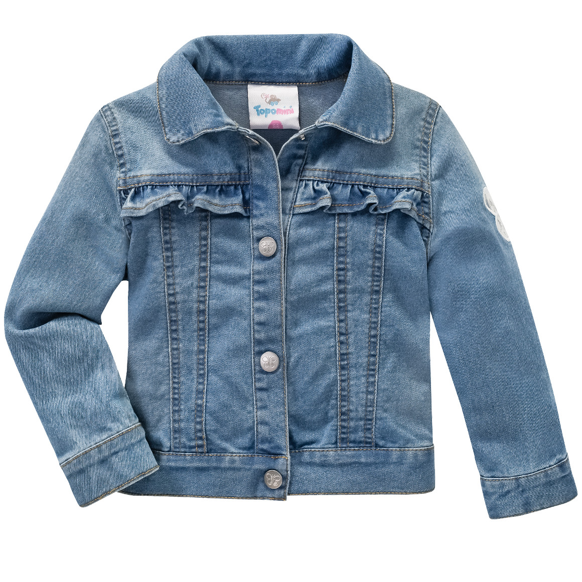 Baby Jeansjacke mit Rüschen