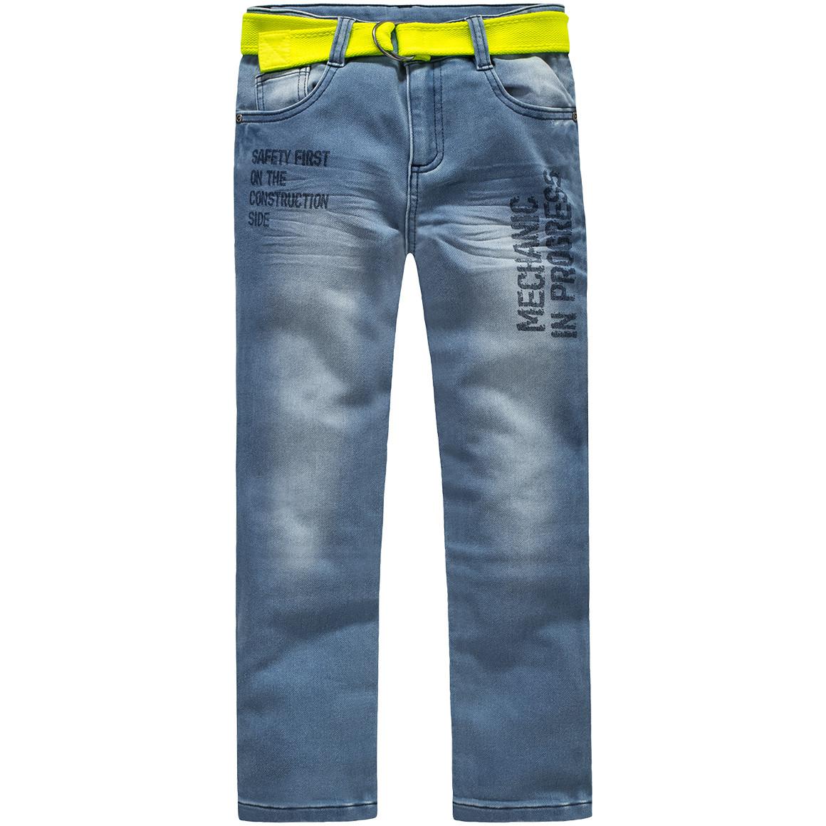 Jungen Slim Jeans mit Canvasgürtel