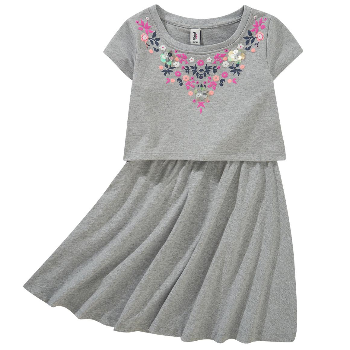 Mädchen Kleid im Layer Look