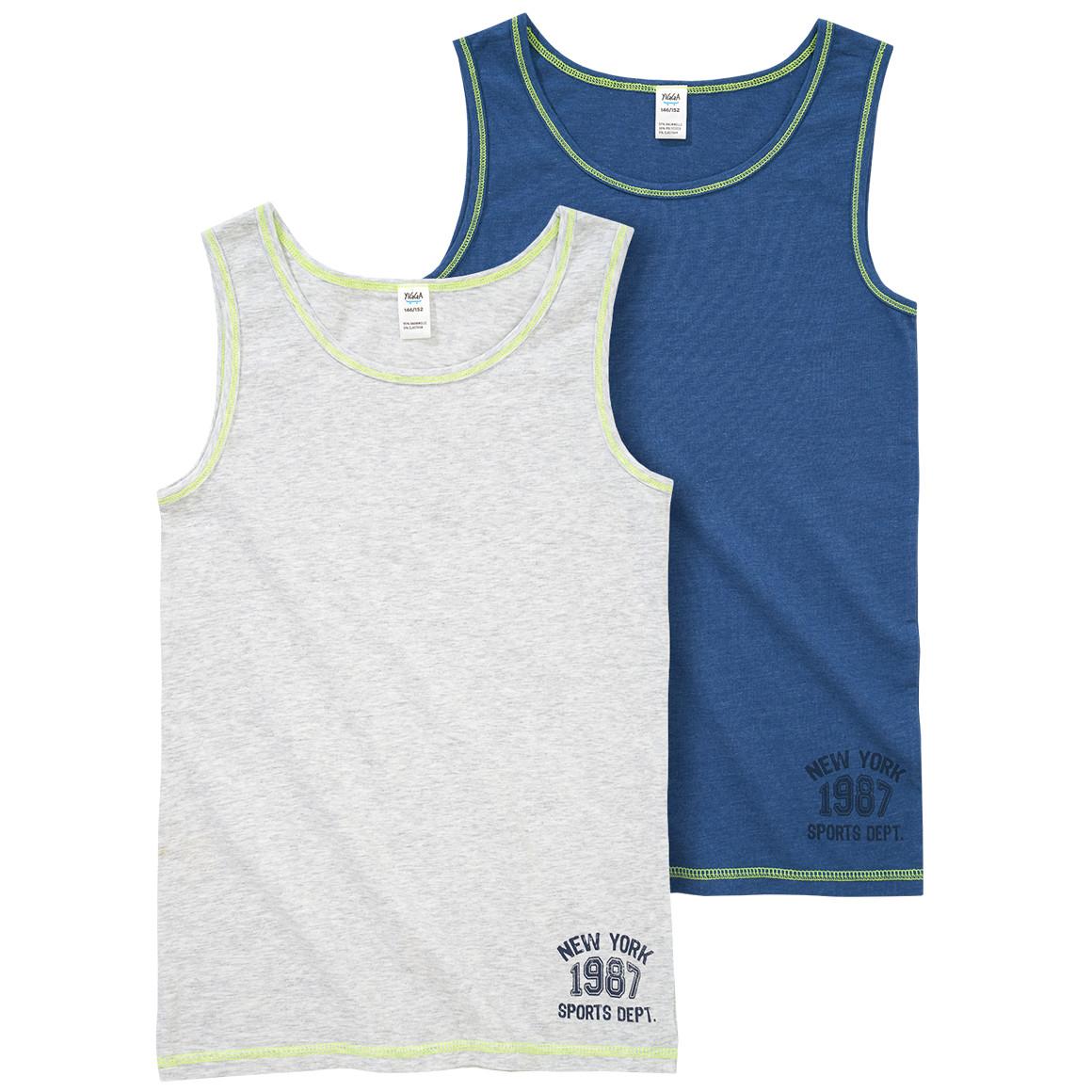 2 Jungen Unterhemden in verschiedenen Designs