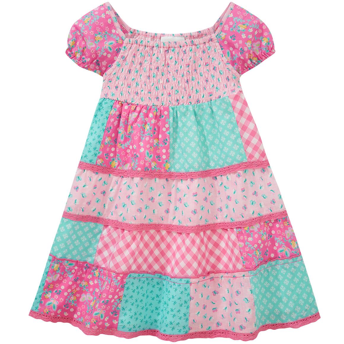 Baby Patchwork Kleid mit Spitze