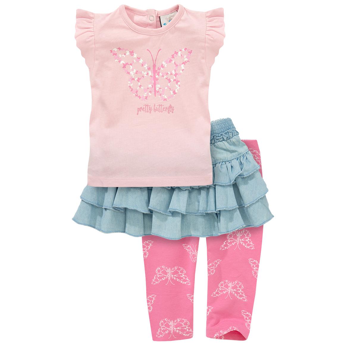 Baby T-Shirt, Leggings und Rock im Set