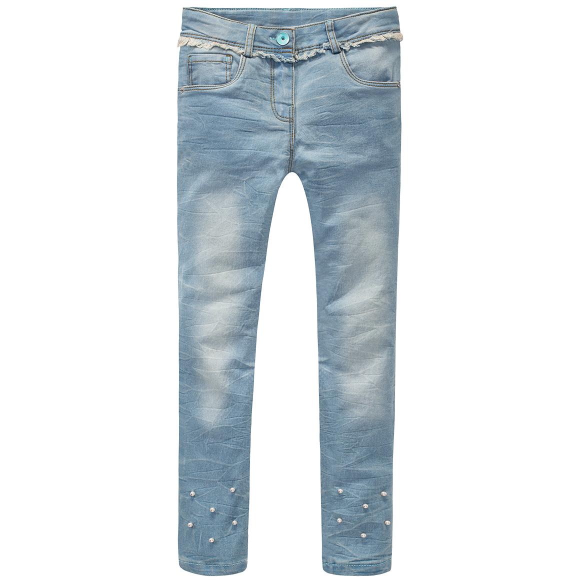Mädchen Skinny Jeans mit verstellbarem Bund