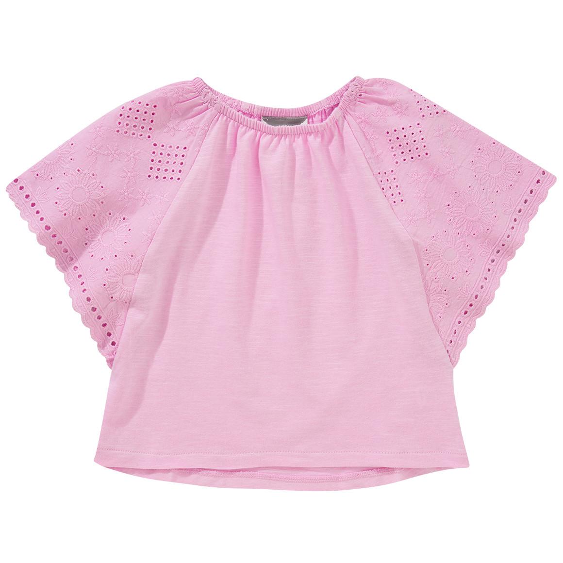 Mädchen T-Shirt mit Fledermaus Ärmeln