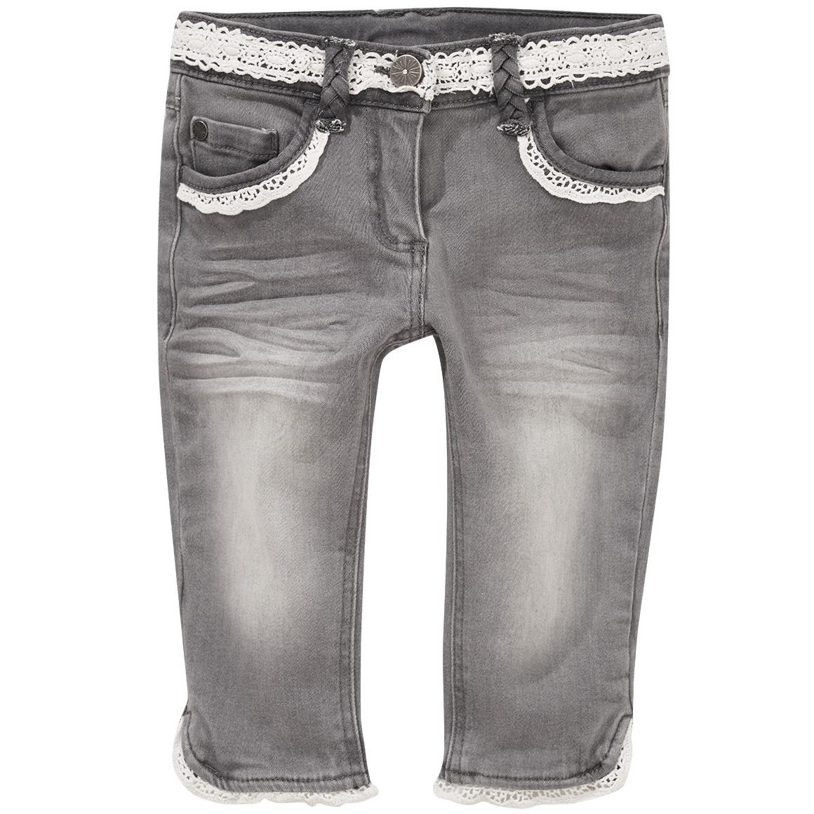 Mädchen Capri Jeans mit Spitze
