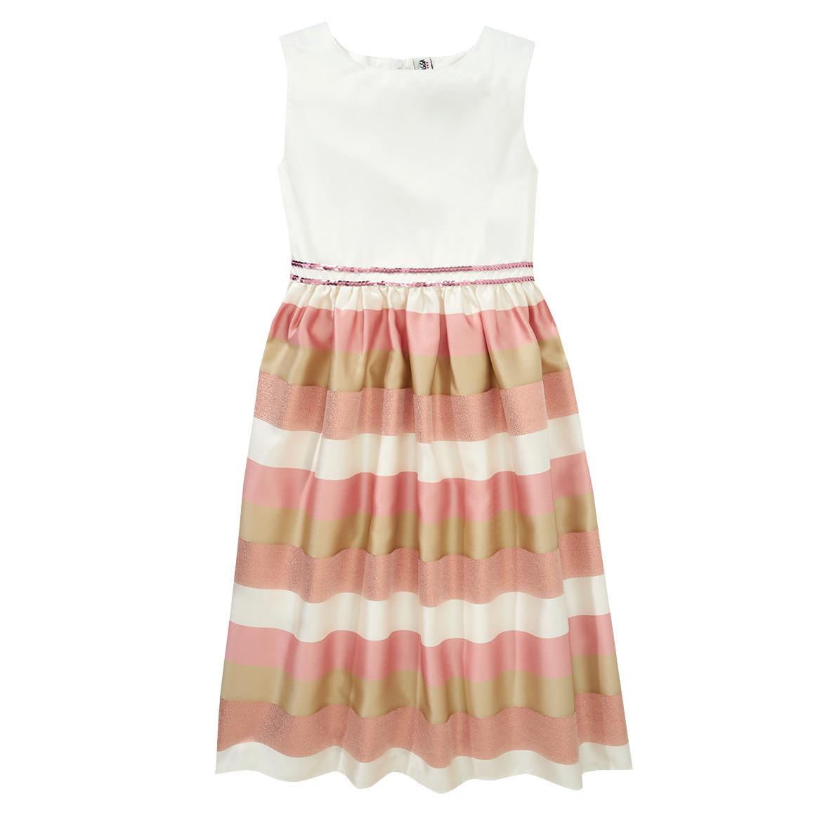 Festliches Mädchen Kleid mit Streifen