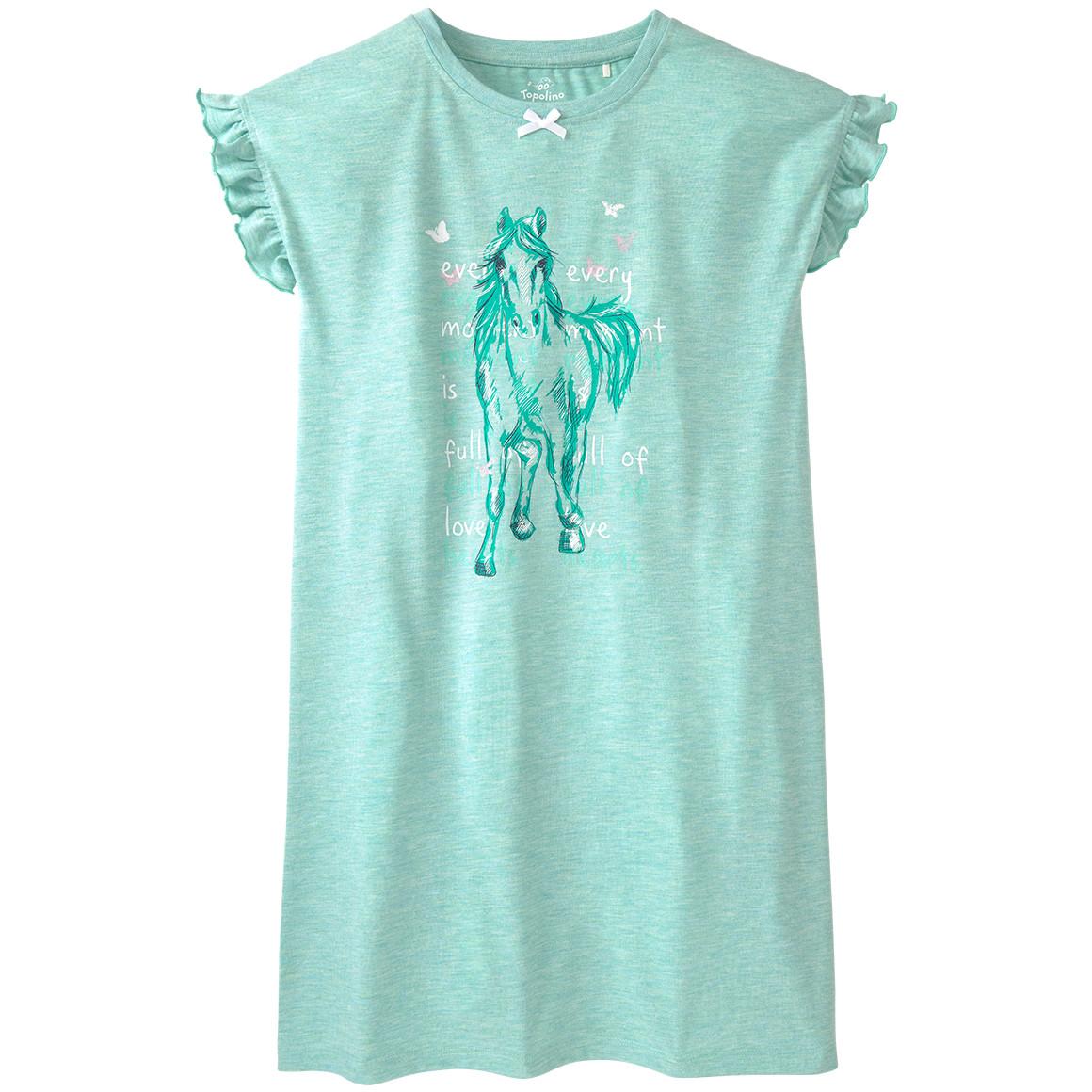 Mädchen Nachthemd mit Pferde Motiv